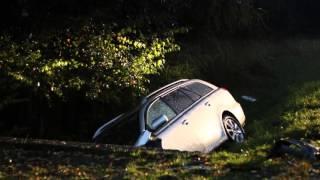 Zderzenie dwóch samochodów w Klimkówce