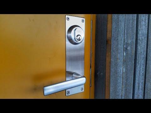 Türbeschlag aus Edelstahl selber bauen - Langschild für die Haustür