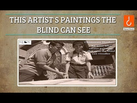 This artist's paintings the blind can see!
