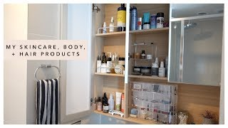 What's In My Medicine Cabinet (skincare, body, hair products) | Jenn Rogers
