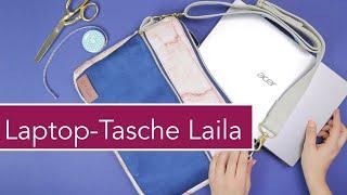 Laptop-Tasche Laila nähen  - mit Tragegurt