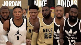 Which Shoe Brand Has The Best NBA Players? | NBA 2K20