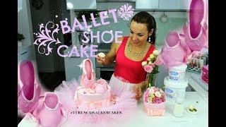 FONDANT BALLERINA SHOE CAKE TOPPER | BY VERUSCA WALKER