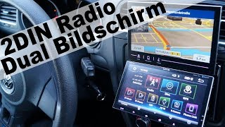 Dual Bildschirm 2DIN Autoradio von TUVVA / unboxing, einbau und review