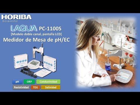 Medidor de mesa de pH y Conductividad HORIBA PC-1100