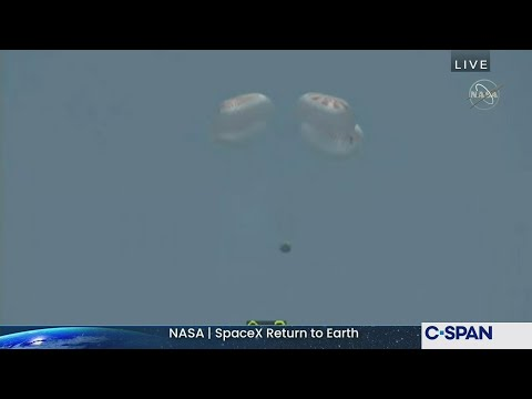 Live video SpaceX return | Astronauts return to earth
