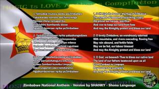 Zimbabwe National Anthem by Theresa Shanky Shangazhike, lyrics Shona w/English Translation
