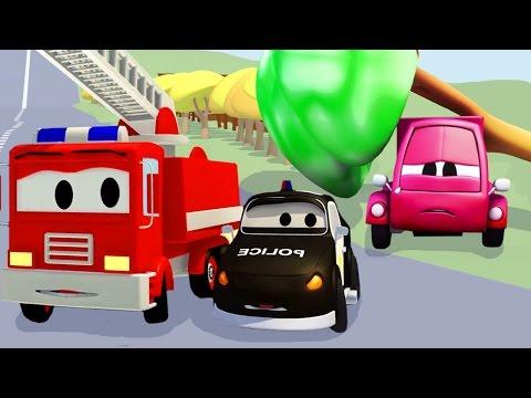 Carros Infantiles Camión De Bomberos Para Niños Caricaturas De