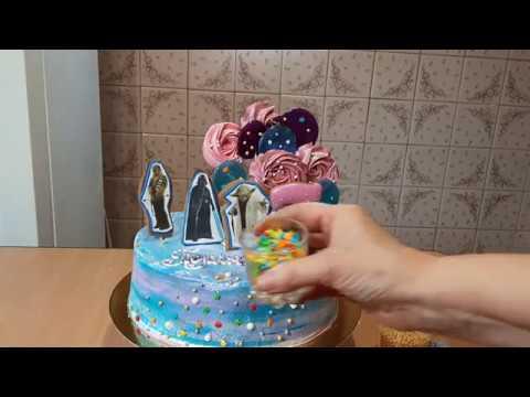 Как сделать кремовый торт для девочки в стиле Звёздные войны