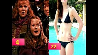 Ginny Weasley (Bonnie Wright) From 3 To 26 Years Old   Harry Potter Movie Star Then And Now