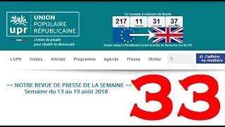 Revue de Presse UPR semaine n°33