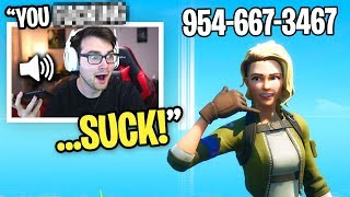 I Put My PHONE NUMBER In My Fortnite Name and GOT CALLS... (Fortnite Season 2)
