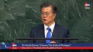 "South Korea's President to North Korea, ""Choose the Path of Dialogue"""