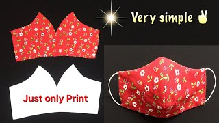 Very Simple, Just Only Print To Make Mask At Home With Filter Pocket/ Mẫu Khẩu Trang In Sẵn