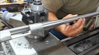 Receiver truing and Barrel threading with timing