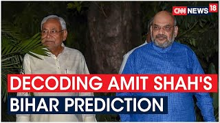 Amit Shah Predicts JDU- BJP Double Engine Will Win 2/3rd Seats In Bihar Polls | CNN New18  IMAGES, GIF, ANIMATED GIF, WALLPAPER, STICKER FOR WHATSAPP & FACEBOOK