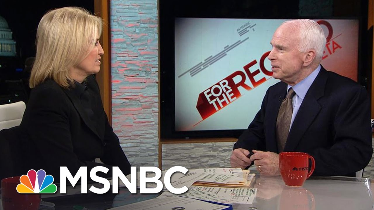 John McCain Sounds Off On Donald Trump, Barack Obama And Russia | For The Record | MSNBC thumbnail
