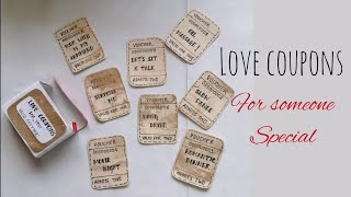 LOVE COUPONS   Anniversary  Valentine's Day Special   DIY  Simple Handmade craft   Art & craft  love