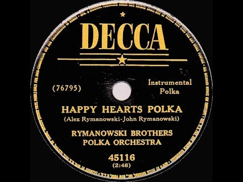 Polish 78rpm recordings, 1950. DECCA 45116. Happy hearts –polka / Mój Jasienku –polka
