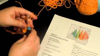 Beginner Crochet Dishcloth - Row 1 - Bernat Handicrafter Cotton
