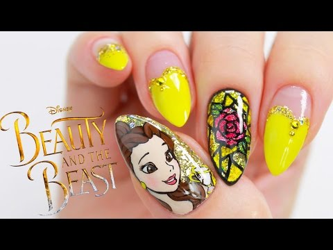 Disney Princess Belle // 'Beauty And The Beast' Nail Tutorial