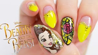 Disney Princess Belle // Beauty And The Beast Nail Tutorial