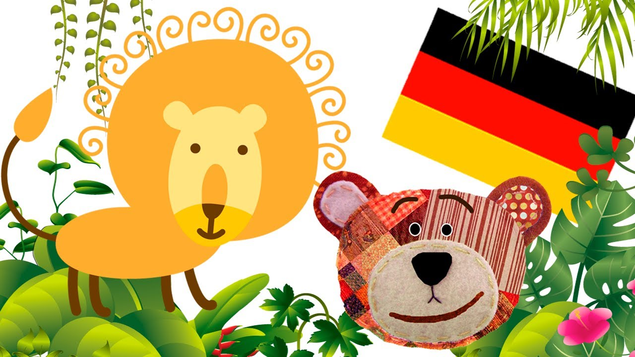 Animales de la selva para aprender alemán con los niños