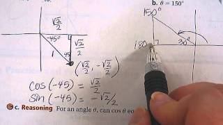 Finding Sine And Cosine Using Special Right Triangles