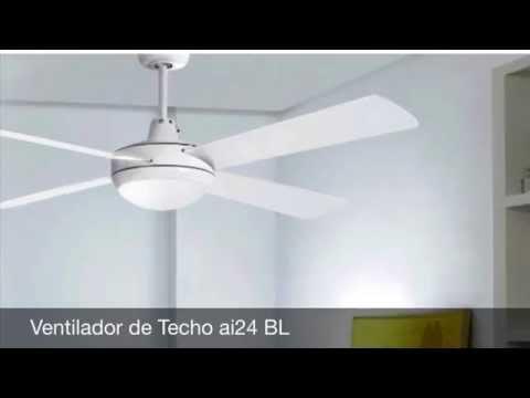 Ventiladores de Techo con luz y mando