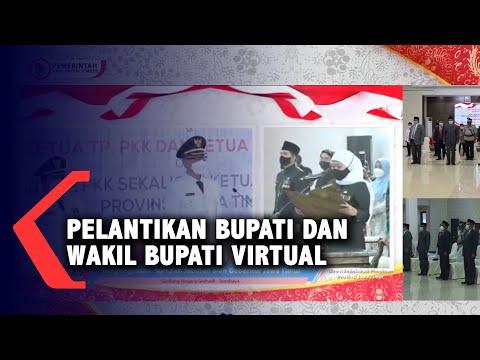Pelantikan Bupati dan Wakil Bupati Jember Disaksikan Forpimda Secara Virtual