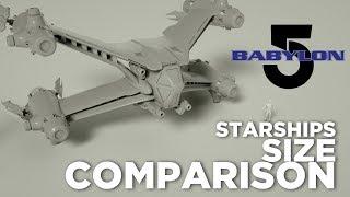 Starships size Comparison (Babylon 5)