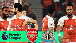 ARSENAL Vs NEWCASTLE UNITED - Premier League - Full Match And Goal