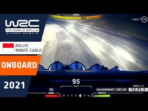 WRC 2021 開幕戦のラリーモンテカルロ トヨタのロバンペラのオンボード映像