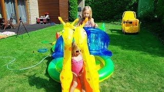 БОЛЬШОЙ БАССЕЙН ЗООПАРК  / Николь и Алиса / outdoor playground family fun kids Pool ZOO 2017