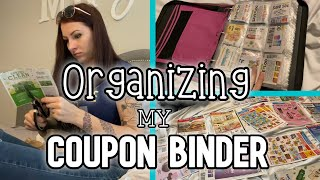 ORGANIZING MY COUPON BINDER | Clipping 80 INSERTS!!!