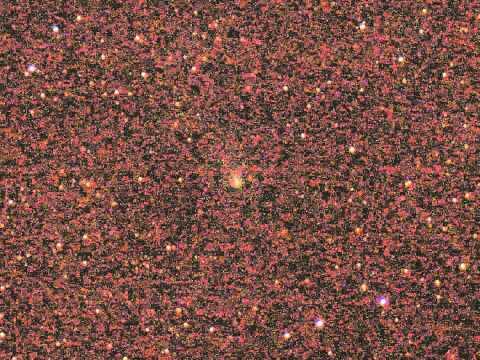 Comet Siding Spring seen from Australia