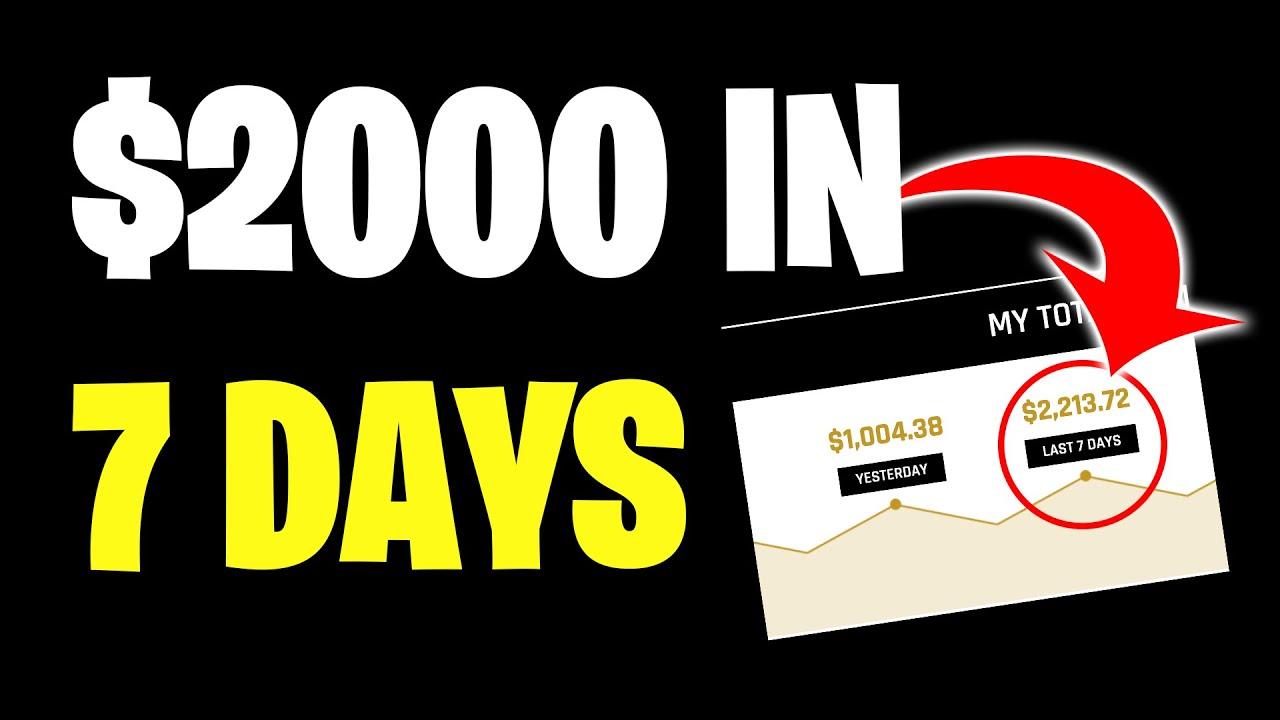MAKE $2000 IN 7 DAYS * PROOF * (MAKE MONEY ONLINE) thumbnail