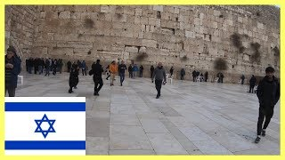 My first time at the Wailing Wall in Jerusalem