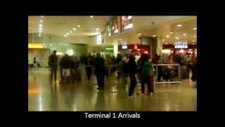 preview picture of video 'London Heathrow Terminal 1 & 3 Walk To Bus, Train Stations'