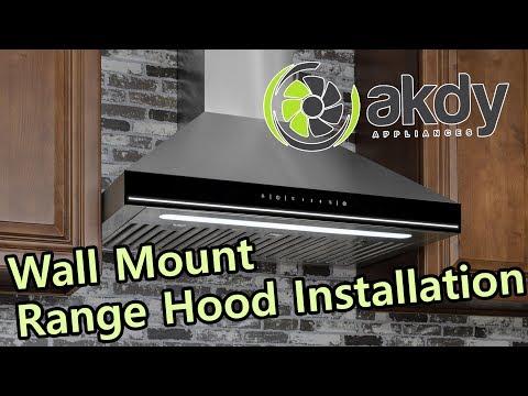 AKDY Wall-mount Range Hood Installation A