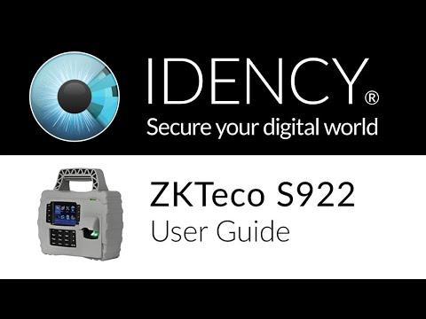 Idency: ZKTeco S922 User & Registration Guide