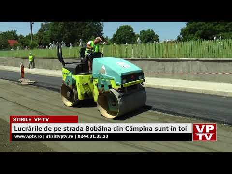 Lucrările de pe strada Bobâlna din Câmpina sunt în toi