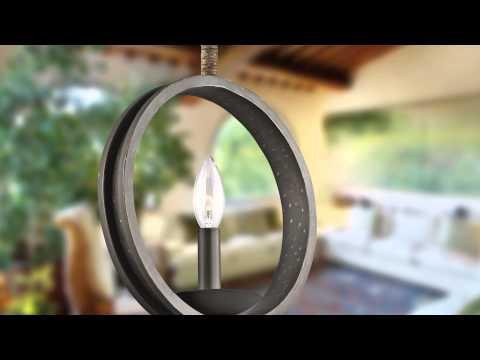 Video for Kearn Olde Bronze Six Light Medium One Tier Chandelier