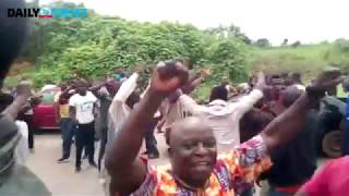 Parts of Osogbo erupt to celebrate early PDP lead