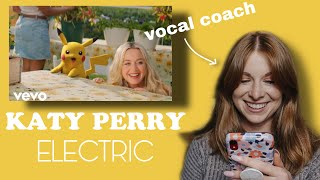 Vocal coach reacts to Katy Perry-Electric