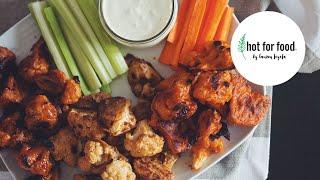Buffalo Cauliflower Wings + 2 More Flavors! // Cauliflower Wings 3 Ways (Vegan)   Hot For Food