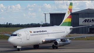 Air Zimbabwe B737 200 Takeoff From Harare