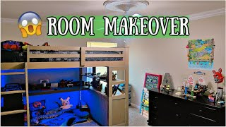 EXTREME BOYS BEDROOM MAKEOVER 2020 | BEFORE & AFTER