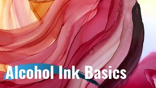 Alcohol Ink Basics For Beginners | Using Brushes | 88