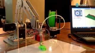 3D printing with robot arm: Turing Dobot arm into a 3D printer!